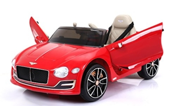 Kinder Elektroauto Bentley rot