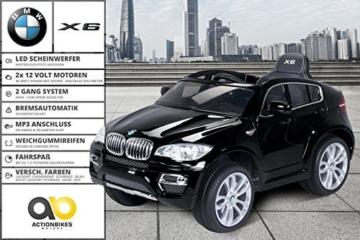 Kinder Elektroauto BMW X6 schwarz