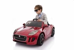 Kinder Elektroauto Jaguar F Type rot