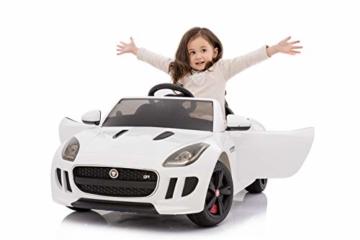 Kinder Elektroauto Jaguar F Type weiß
