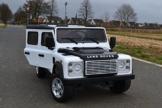 Kinder Elektroauto Land Rover weiß