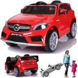 Kinder Elektroauto Mercedes A45 rot