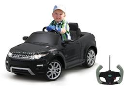 Kinder Elektroauto Range Rover Evoque schwarz