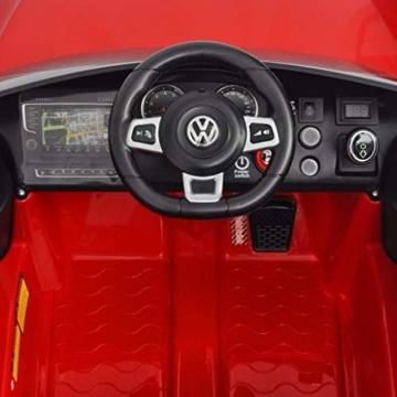 Kinder Elektroauto VW Golf GTI 7 rot
