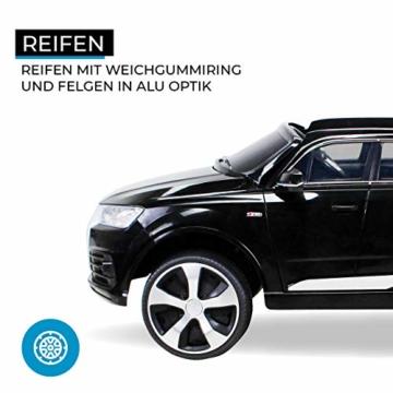 Kinder Elektroauto Audi Q7 SUV Schwarz -