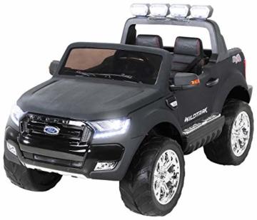 Kinder Elektroauto Ford Ranger 2 Sitzer schwarz matt