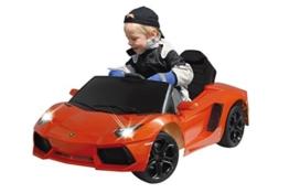 Kinder Elektroauto Lamborghini Aventador orange