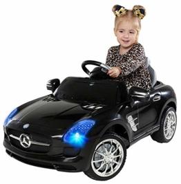 Kinder Elektroauto Mercedes SLS AMG schwarz