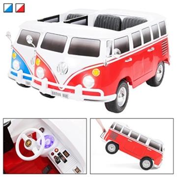 Kinder Elektroauto VW T1 Bulli Samba Camper Bus 2-Sitzer