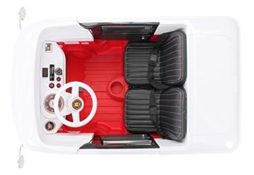 Kinder Elektroauto VW Bus Bulli T1 Samba Camper 35 Watt Motoren 2 Personen (Weiß/Rot) -
