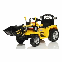 Kinder Elektro Auto Bagger Fahrzeug gelb