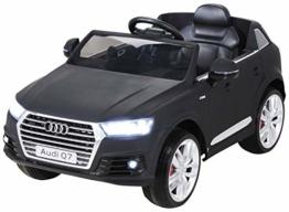 Kinder Elektroauto Audi Q7 schwarz matt