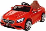 Kinder Elektroauto Mercedes S63 AMG rot