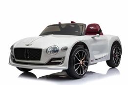 Kinder Elektroauto Bentley weiß