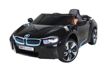 Kinder Elektroauto BMW i8 schwarz