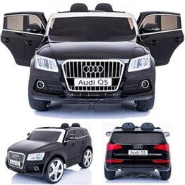 Kinder Elektroauto Audi Q5 schwarz