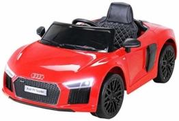 Kinder Elektroauto Audi R8 Spyder rot