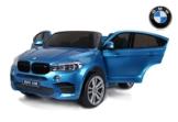 Kinder Elektroauto BMW X6 M blau lackiert