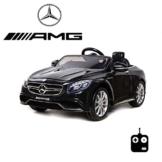 Kinder Elektroauto Mercedes S63 AMG schwarz