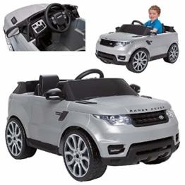 Kinder Elektroauto Range Rover grau