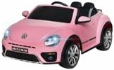 Kinder Elektroauto VW Beetle pink