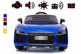 Kinder Elektroauto Audi R8 blau