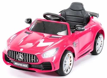 Kinder Elektroauto Mercedes GTR AMG pink