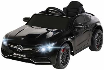 Kinder Elektroauto Mercedes C63 Cabrio schwarz