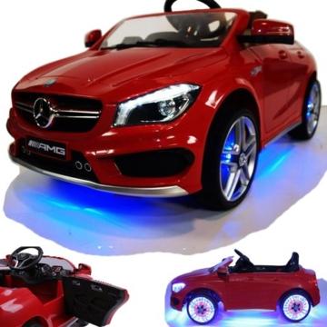 Kinder Elektroauto Mercedes CLA AMG rot