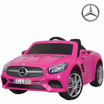 Kinder Elektroauto Mercedes SL500 AMG rosa