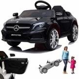 Kinder Elektroauto Mercedes GLA45 AMG schwarz