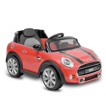 Kinder Elektroauto Mini Cooper Hatch rot