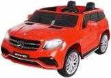 Kinder Elektroauto Mercedes GLS rot