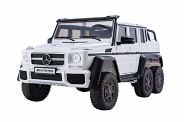 Kinder Elektroauto Mercedes G63 AMG 2-sitzer weiß