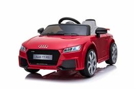 Kinder Elektroauto Audi TTRS Cabrio rot