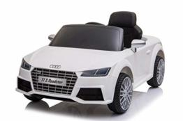 Kinder Elektroauto Audi TTS Cabrio weiß