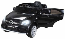 Kinder Elektroauto Mercedes A45 schwarz