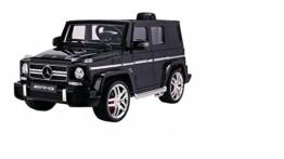 Kinder Elektroauto Mercedes G 63 schwarz