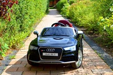 Kinder Elektroauto Audi RS5 schwarz metallic