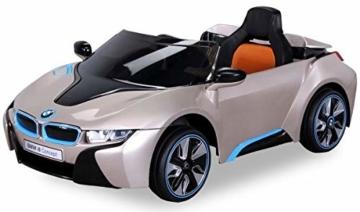 Kinder Elektroauto BMW i8 goldmetallic
