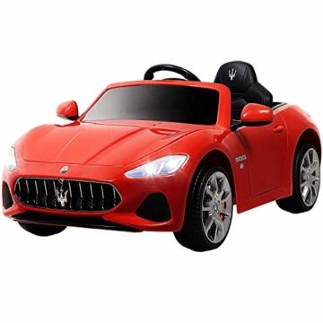 Kinder Elektroauto Maserati Grancabrio rot
