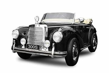 Kinder Elektroauto Mercedes Benz 300s Oldtimer schwarz