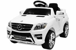 Kinder Elektroauto Mercedes Benz ML 350 weiß