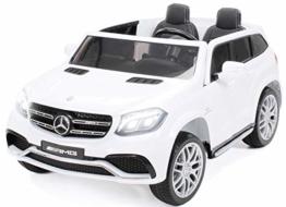 Kinder Elektroauto Mercedes Benz GLS weiß
