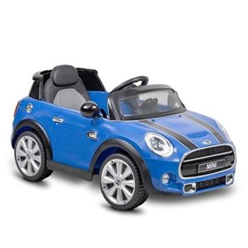 Kinder Elektroauto Mini Cooper blau