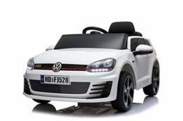 Toyas Lizenz VW Volkswagen Golf GTI Kinder Elektrofahrzeug Kinderfahrzeug Kinderauto Elektroauto 2X 30W Motor Weiß - 1