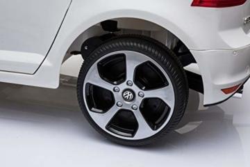 Toyas Lizenz VW Volkswagen Golf GTI Kinder Elektrofahrzeug Kinderfahrzeug Kinderauto Elektroauto 2X 30W Motor Weiß - 6