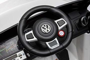 Toyas Lizenz VW Volkswagen Golf GTI Kinder Elektrofahrzeug Kinderfahrzeug Kinderauto Elektroauto 2X 30W Motor Weiß - 7