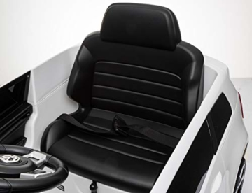 Toyas Lizenz VW Volkswagen Golf GTI Kinder Elektrofahrzeug Kinderfahrzeug Kinderauto Elektroauto 2X 30W Motor Weiß - 9