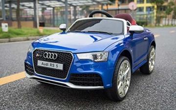 Kinder Elektroauto Audi RS 5 blau